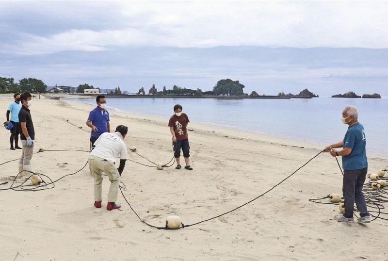 海開きに向け準備 串本町橋杭と田原の海水浴場:紀伊民報AGARA